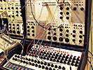 Buchla 100 modular synthesizer at NYU, as part of the electronic music synthesis class.